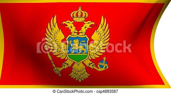 Flag of Montenegro  - csp4883587