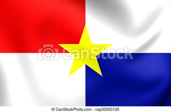 Flag of Monteria City, Colombia. - csp30263125