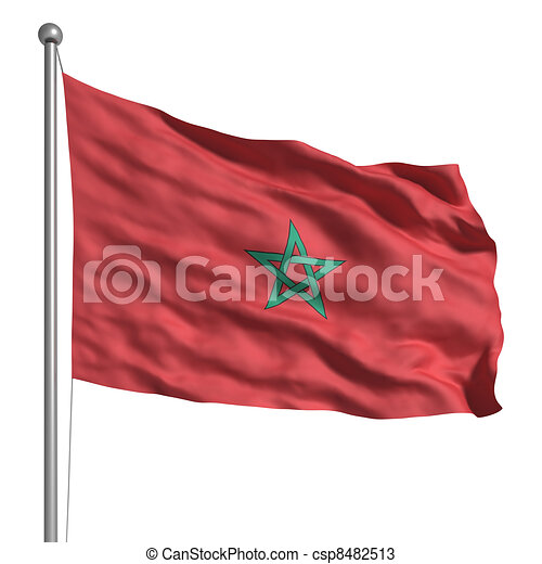 Flag of Morocco - csp8482513