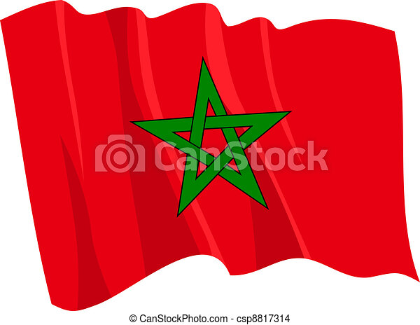 flag of Morocco - csp8817314