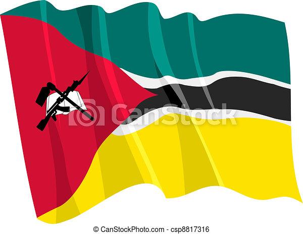 flag of Mozambique - csp8817316