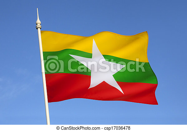 Flag of Myanmar (Burma) - csp17036478