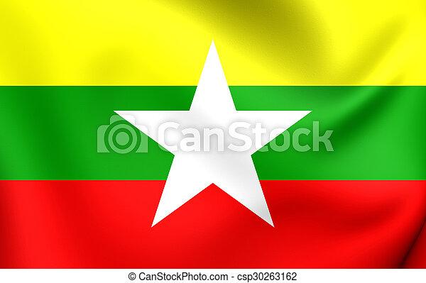 Flag of Myanmar - csp30263162