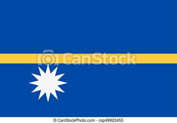 Flag of Nauru - csp49922455