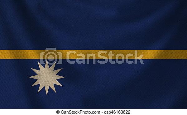 Flag of Nauru. - csp46163822
