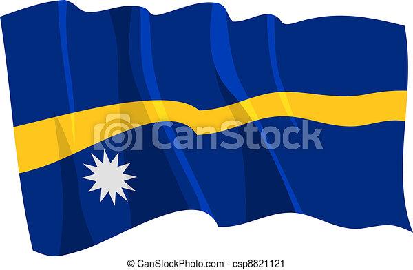 flag of Nauru - csp8821121