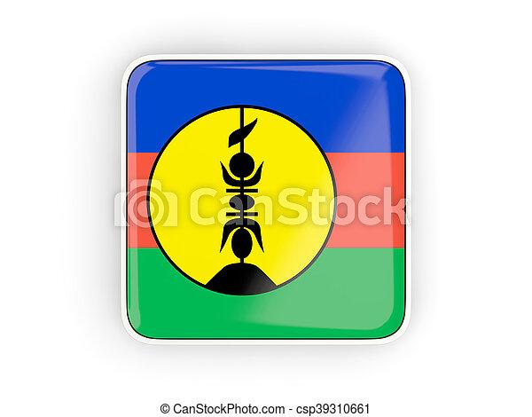 Flag of new caledonia, square icon - csp39310661
