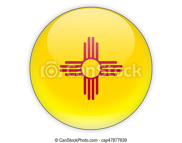 Flag of new mexico, US state icon - csp47877639