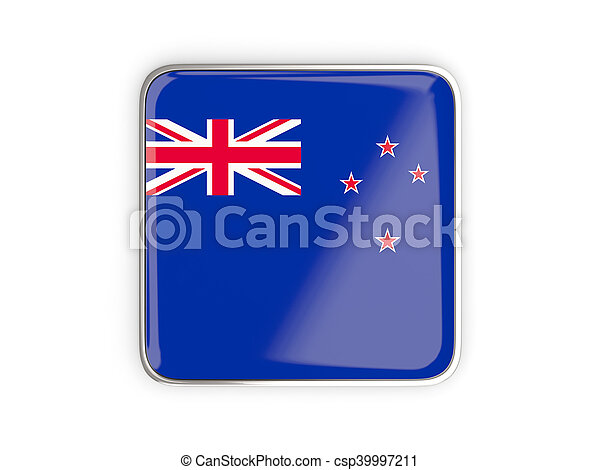 Flag of new zealand, square icon - csp39997211