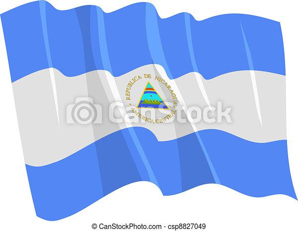 flag of Nicaragua - csp8827049