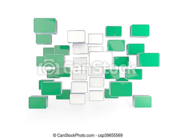 Flag of nigeria, mosaic background - csp39655569