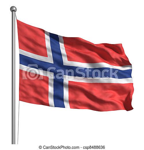 Flag of Norway  - csp8488636