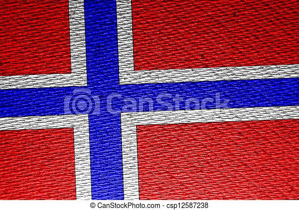 Flag of Norway - csp12587238