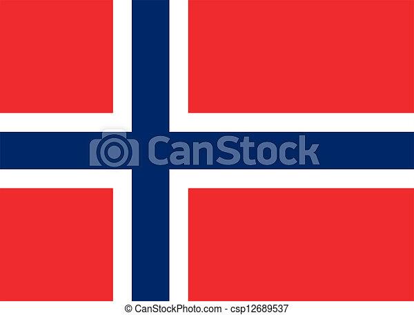 Flag of Norway. - csp12689537