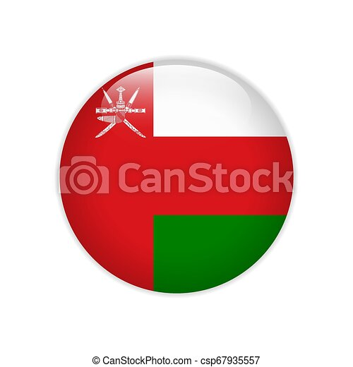Flag of Oman button - csp67935557