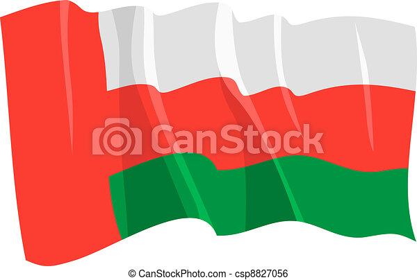 flag of Oman - csp8827056