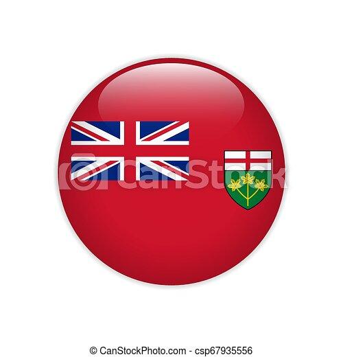 Flag of Ontario button - csp67935556