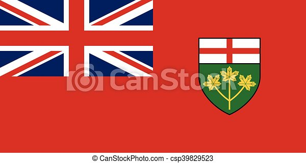 Flag of Ontario in correct proportions and colors - csp39829523