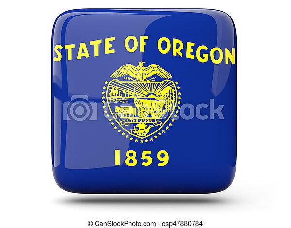 Flag of oregon, US state square icon - csp47880784