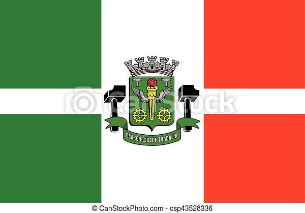 Flag of Osasco, Brazil. Vector Format - csp43528336