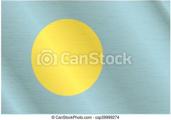 Flag of Palau - csp39999274