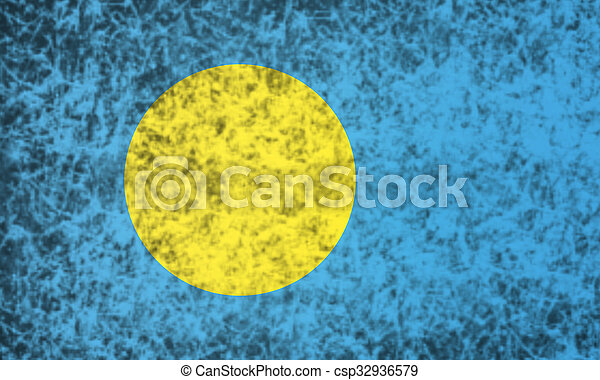Flag of Palau. - csp32936579