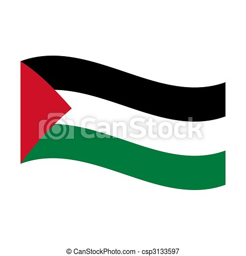 flag of palestine - csp3133597