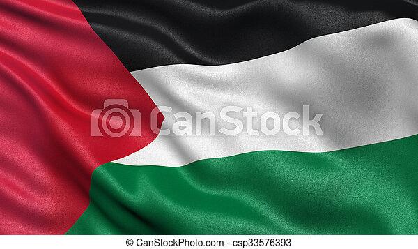 Flag of Palestine - csp33576393