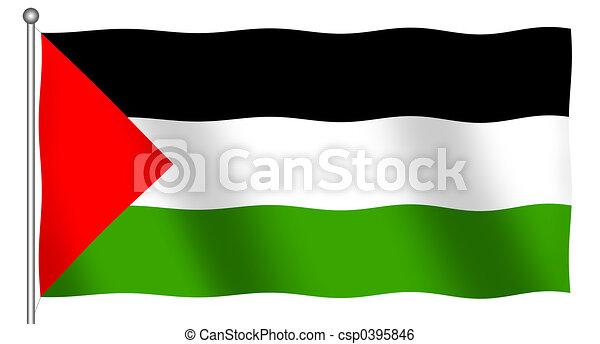 Flag of Palestine Waving - csp0395846