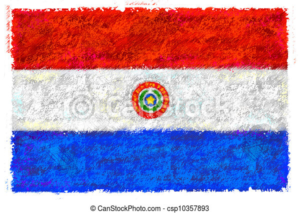 Flag of Paraguay - csp10357893