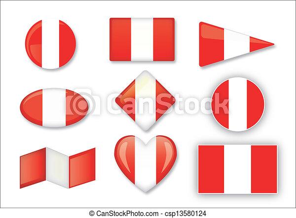 flag of Peru - csp13580124
