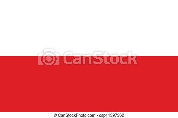 Flag of Poland - csp11397362