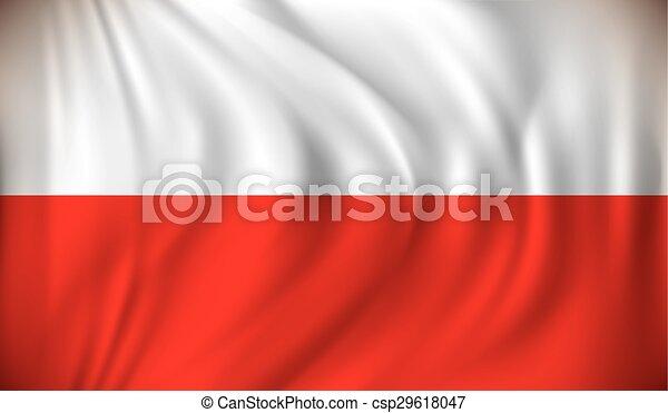 Flag of Poland - csp29618047