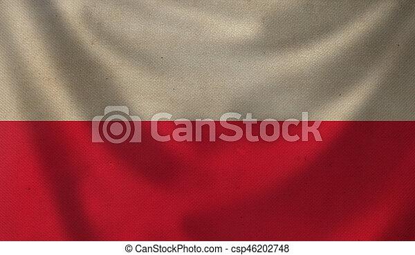 Flag of Poland. - csp46202748