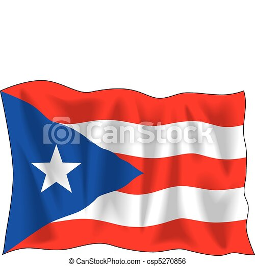 flag of puerto rico waving flag of puerto rico isolated on clip rh canstockphoto com