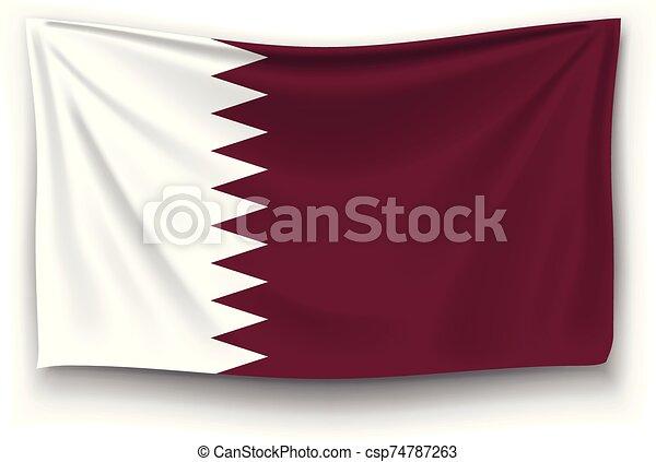 flag of qatar - csp74787263