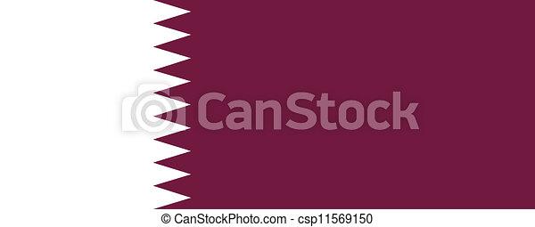 Flag of Qatar - csp11569150