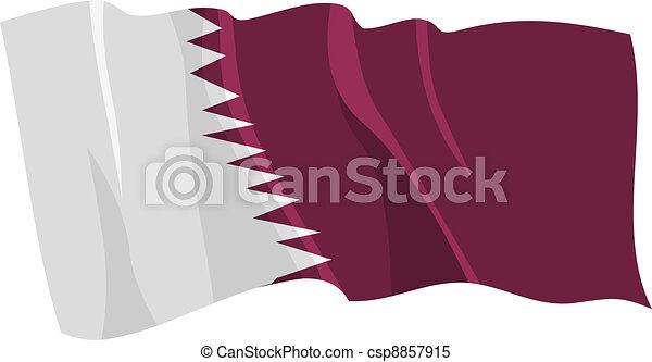 flag of Qatar - csp8857915