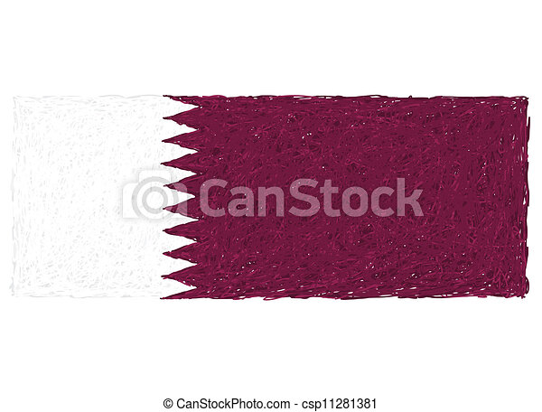 flag of qatar - csp11281381
