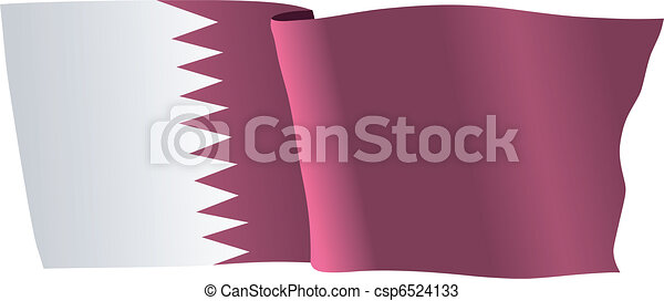 flag of Qatar - csp6524133