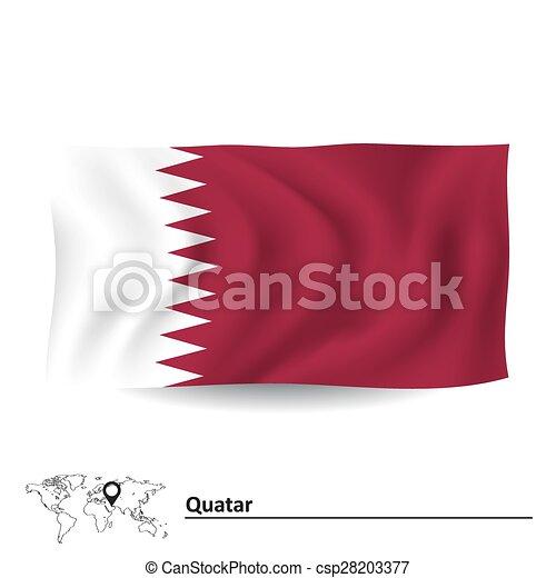 Flag of Qatar - csp28203377