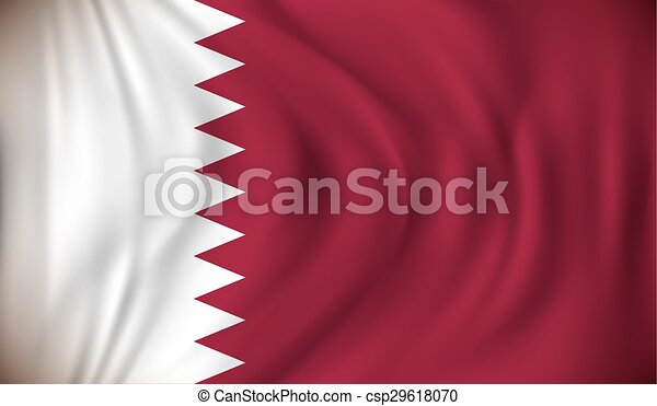 Flag of Qatar - csp29618070