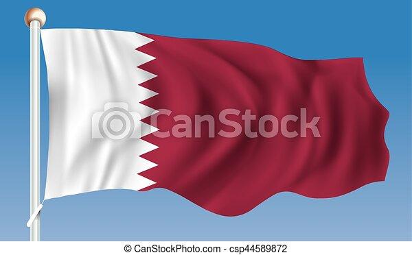 Flag of Qatar - csp44589872