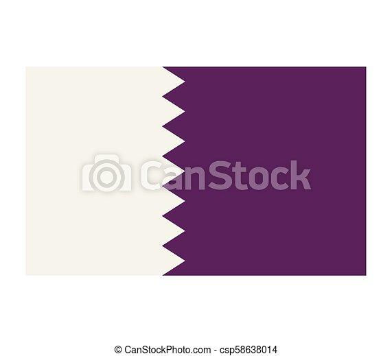 flag of qatar - csp58638014