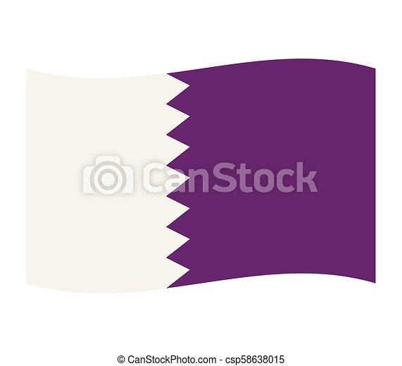 flag of qatar - csp58638015