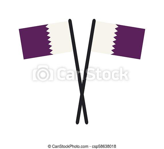 flag of qatar - csp58638018