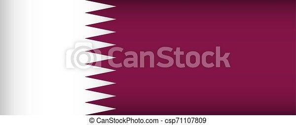Flag of Qatar. - csp71107809