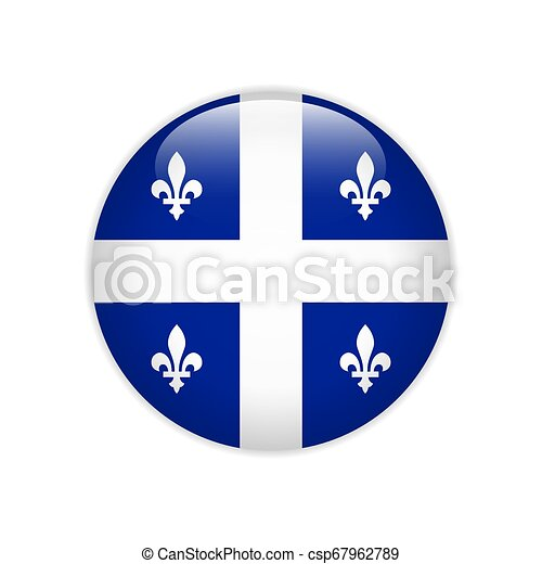 Flag of Quebec button - csp67962789