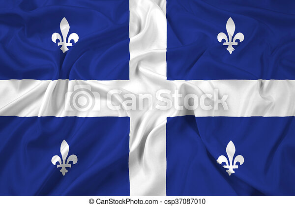 Flag of Quebec - csp37087010