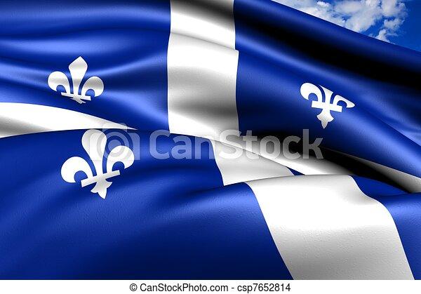 Flag of Quebec - csp7652814